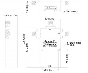 Image Commutateurs à diode Pin 0.5-43GHz SP2T Pilotage USB 3