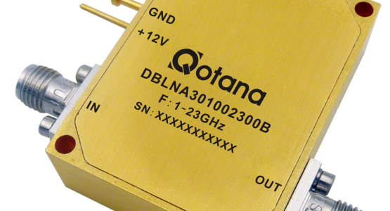Image LNA à gain contrôlable QOTANA 1-23GHz NF: 3dB P1dB:+20dBm